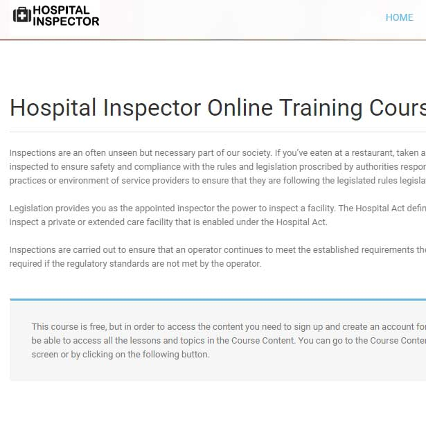 Hospital Inspector
